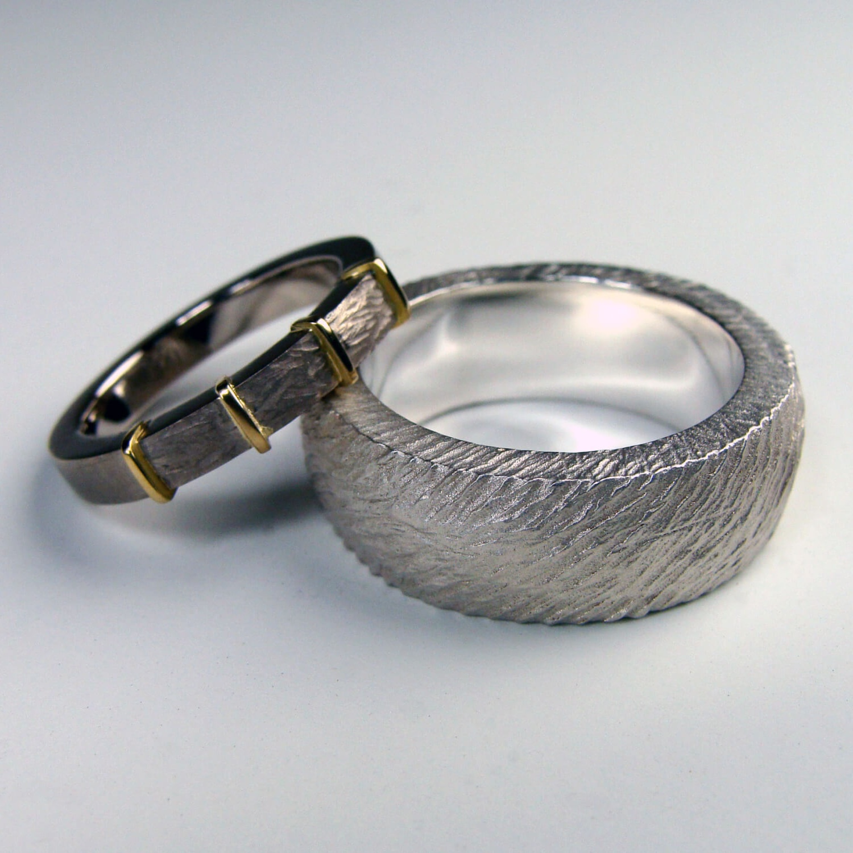 Wedding Bands 18k White Gold Palladium 18k Yellow Gold, Sterling Silver, 2012